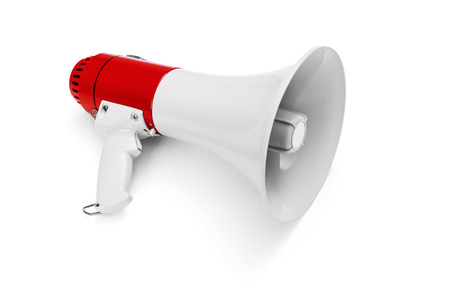 Megaphone isolated on white