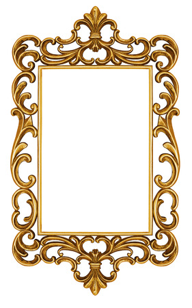 cadre antique: Antique frame isolated on white
