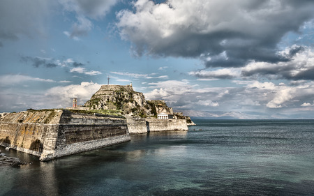 corfu: Old Byzantine fortress of Corfu town Greece