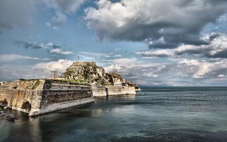kerkyra: Old Byzantine fortress of Corfu town Greece