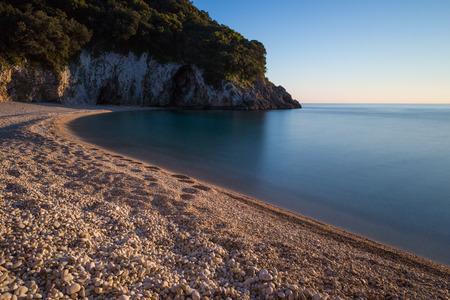 corfu: Rovinia beach on Corfu Greece Stock Photo