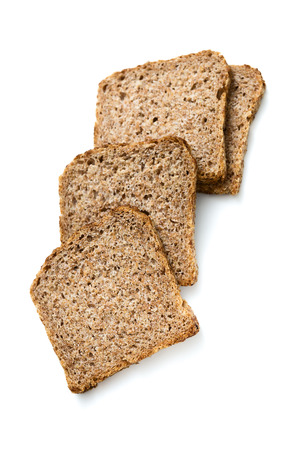 Specially produced bread without flour, the main ingredient of bread is germ of wheat and rye Stock Photo