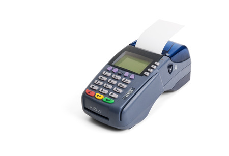 terminals: Credit card terminal on white background