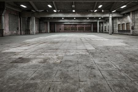 edificio industrial: inter industrial de un viejo edificio de la fábrica Foto de archivo