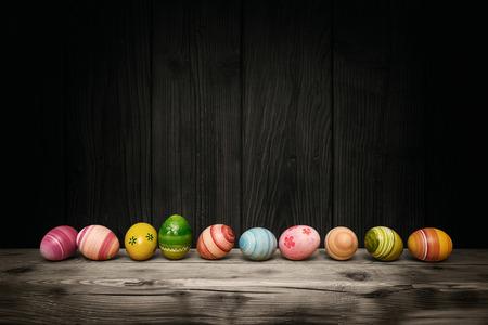 Colorful Easter eggs  Standard-Bild - 54348469