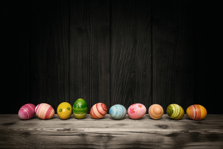 Colorful Easter eggs Stockfoto
