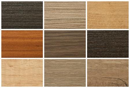 madera: Tableros de aglomerado, paleta de colores y la textura de los muebles