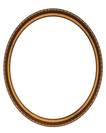 Oval frame isolated on white 写真素材