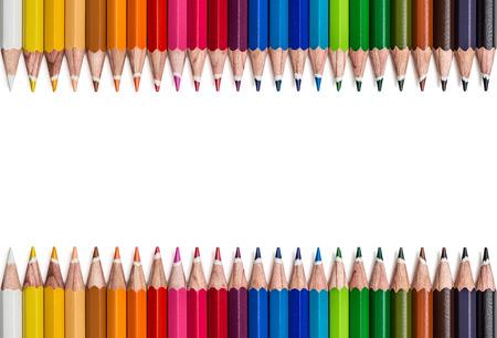 descriptive colours: Frame of colored pencils