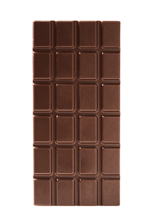 white bars: Chocolate bars isolated on white -Clipping Path