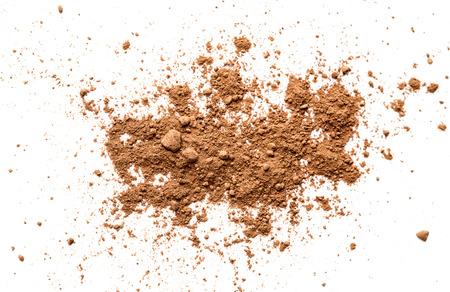 Cocoa powder on white background Stockfoto