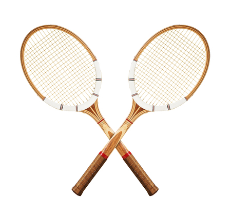Tennis rackets on white background