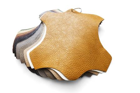 クリッピングパスを含む装飾とデザインのための人工皮革のサンプル 写真素材 - 96039786