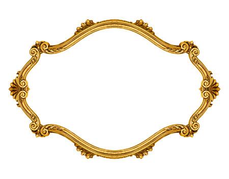 Ovaler Rahmen isoliert auf weißem Hintergrund