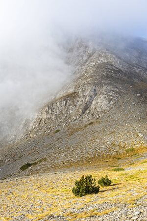Mystical clouds in mount at central Greece
