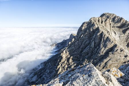 The mount Olympus in central Greece and Mytikas, its highest peak