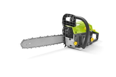 Chainsaw on white background