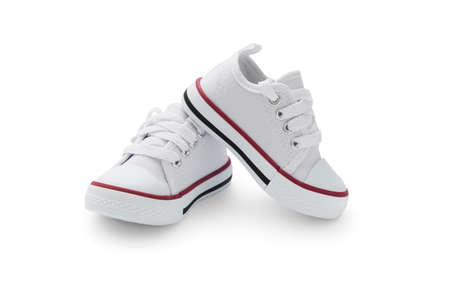 Baby sneakers on white background, including clipping path