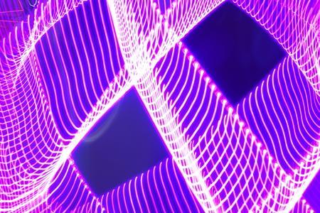 exposici�n: Luces de la exposici�n a largo Foto de archivo
