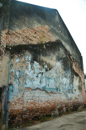 thialand: The wall Stock Photo