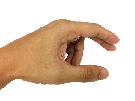 dedo �ndice: cerrar la palma de la mano Foto de archivo
