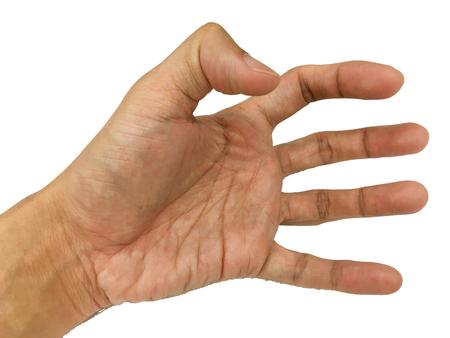 hands index finger: Palm