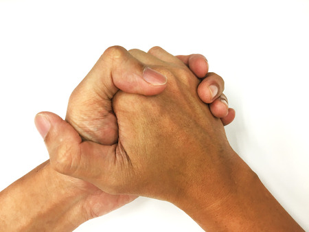 dedo �ndice: mano de pu�o Foto de archivo