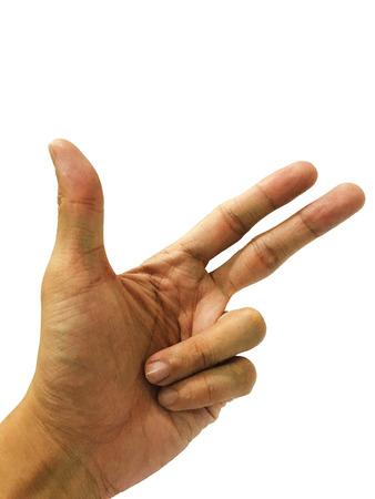dedo �ndice: mano de la pistola