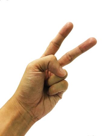 dedo �ndice: mano con la lucha Foto de archivo