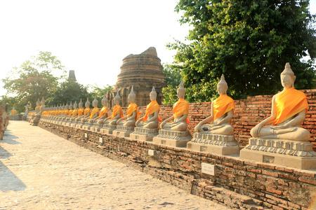 buddha image: Buddha image  with lighten Stock Photo