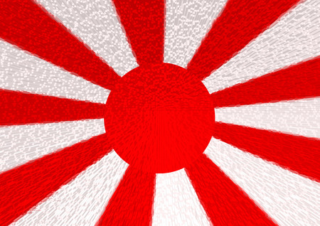 imperialism: Flag of Japan illustration background Stock Photo