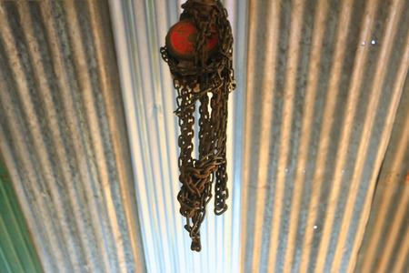 hoist: Hoist under the roof Stock Photo
