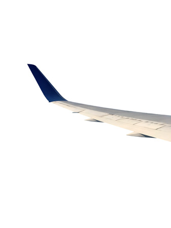 uprise: flank of airplane on the white background Stock Photo