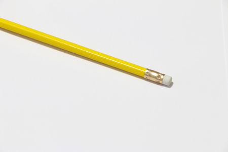 note booklet: Pencil on the white background