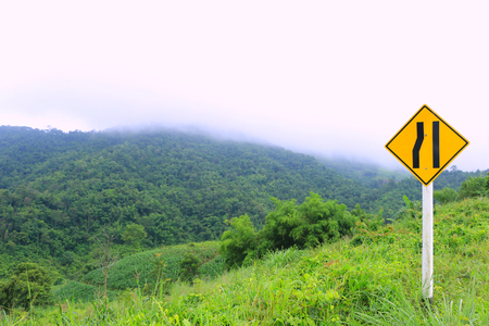 natual: Sign on the road