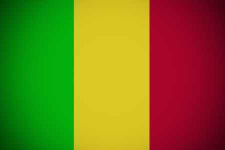 bamako: Mali flag ,original and simple Mali flag