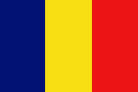 image size: Chad flag ,Chad national flag illustration symbol.