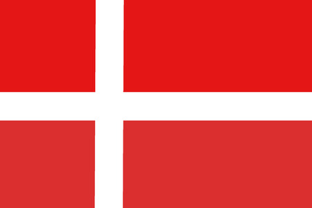 Denmark flag ,Denmark national flag illustration symbol.