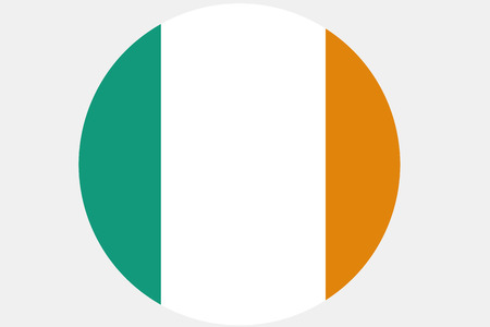 Ireland flag ,original and simple Ireland flag.Nation flag