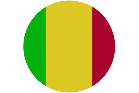 bamako: Mali flag ,original and simple Mali flag.Nation flag