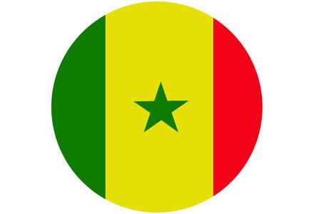 Senegal flag ,Senegal national flag illustration symbol.Circle flag illustration design