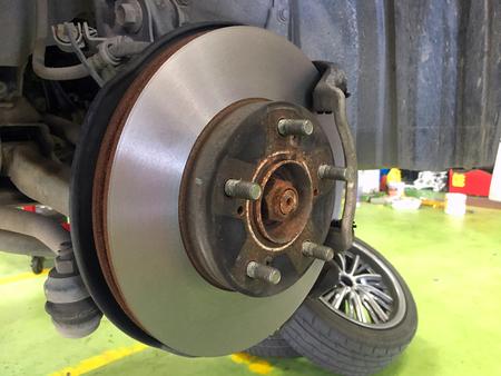 Disk break repair in the service car