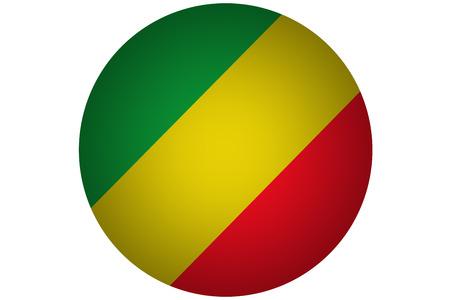 3D Republic of the congo flag ,Congo national flag illustration symbol