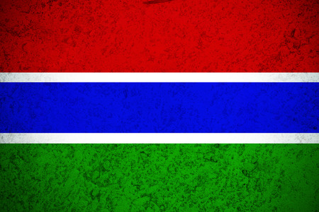 Gambia flag ,Gambia national flag illustration symbol. Stock Photo