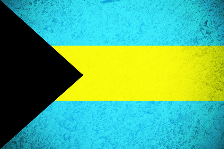 Bahamas flag ,3D Bahamas national flag illustration symbol. Stock Photo