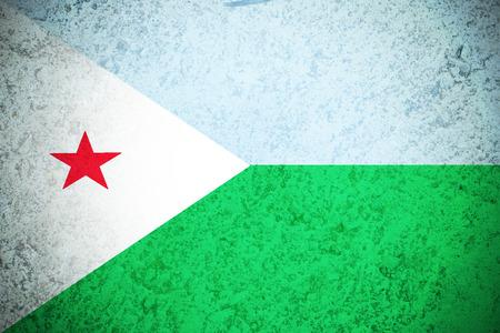 djibouti: Djibouti flag ,3D Djibouti national flag illustration symbol.