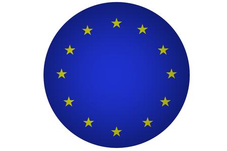 european culture: European Union flag ,3D European Union national flag illustration symbol Stock Photo