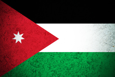 Jordan flag ,3D Jordan national flag illustration symbol.