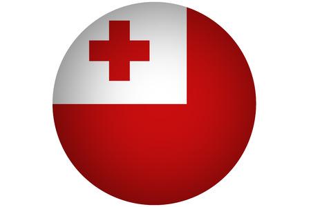tonga: Tonga flag ,3D Tonga flag illustration symbol. Stock Photo