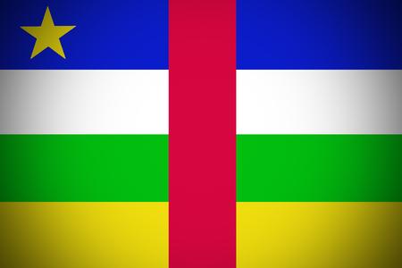 central african republic: Central African Republic flag ,3D Central African flag illustration symbol. Stock Photo